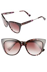 Derek Lam Women's 'Lenox' 53Mm Cat Eye Sunglasses Purple Tortoise