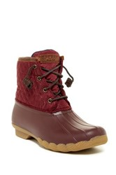 Sperry Saltwater Quilted Waterproof Boot Red