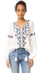 Parker Perry Blouse Ivory