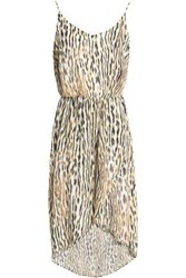 Tart Collections Josefa Wrap Effect Leopard Print Chiffon Dress Animal Print