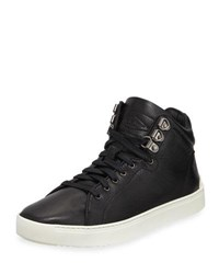 Rag And Bone Kent Leather Platform High Top Sneaker Black
