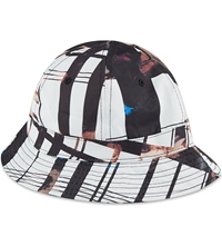 Black Scale Ghost Bucket Hat White