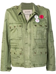 Zadig And Voltaire Krisy Grunge Parka Jacket Green