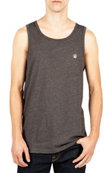 Volcom Men's Solid Tank Heather Black