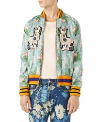 Gucci Floral Jacquard Bomber Light Blue