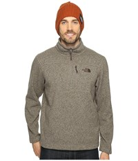 The North Face Gordon Lyons 1 4 Zip Falcon Brown Heather Men's Long Sleeve Pullover