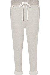 James Perse Cotton Blend Terry Track Pants Mushroom