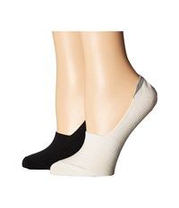 Ugg Merino No Show Socks 2 Pack Cream Black Women's No Show Socks Shoes Bone