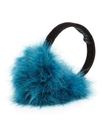 Jocelyn Marabou Feather Earmuffs Teal