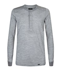 Hanro Thermal Button Tee Male Grey
