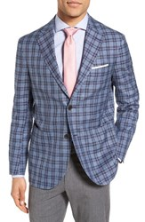 Santorelli Men's Classic Fit Plaid Wool Blend Sport Coat