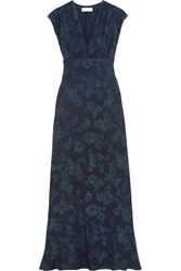 Paul And Joe Floral Jacquard Maxi Dress Navy