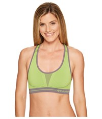 Columbia Seamless Racerback Lime Presse Tonal Spacedye Women's Bra Yellow