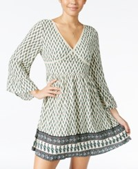 American Rag Printed Bell Sleeve Peasant Dress Only At Macy's Egret Combo