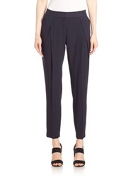 Akris Punto Pleated Front Pants Navy