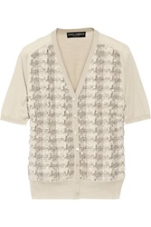 Dolce And Gabbana Boucle Tweed Ponte Cardigan