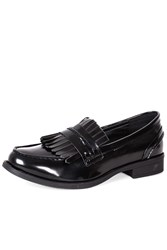 Alice And You Tassle Patent Loafer Black