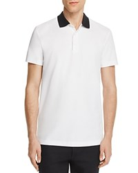 Theory Lukis Contrast Collar Slim Fit Polo Shirt 100 Bloomingdale's Exclusive White