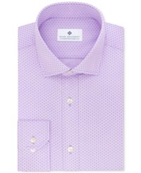 Ryan Seacrest Distinction Men's Slim Fit Non Iron Purple Geo Print Dress Shirt Only At Macy's