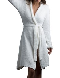 Lemon Asymmetric Self Tie Robe White
