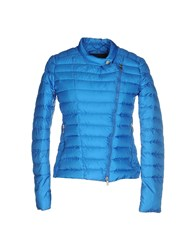 313 Tre Uno Tre Coats And Jackets Down Jackets Women Azure