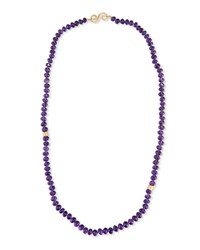 Splendid Company Single Strand Faceted Amethyst Necklace 30