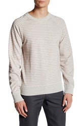 Billy Reid Aaron Long Sleeve Crew Neck Tee White