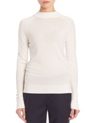 Set Mockneck Button Detail Pullover Off White