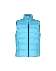 Emporio Armani Ea7 Coats And Jackets Down Jackets Men Turquoise