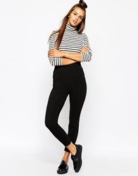 Monki Ponte Legging Black