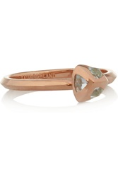 Katie Rowland Circe Aeaea Rose Gold Tone Topaz Ring