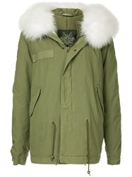 Mr And Mrs Italy Fur Hood Trim Parka Green