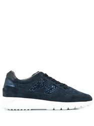 Hogan Glitter Embellished Sneakers Black