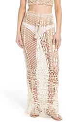 Women's For Love And Lemons 'St. Tropez' Crochet Cover Up Skirt