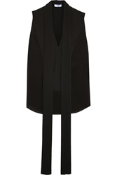Givenchy Pintucked Top In Black Silk Crepe De Chine