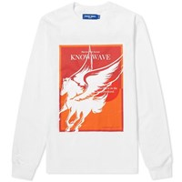 Know Wave Long Sleeve Warrior Poet Society Tee White