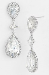 Women's Nadri Cubic Zirconia Drop Earrings Silver