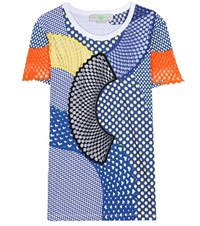 Stella Mccartney Patchwork Cotton T Shirt Multicoloured