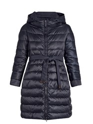 Max Mara Novecap Reversible Coat Navy