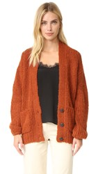 Elizabeth And James Lars Cardigan Dark Rust