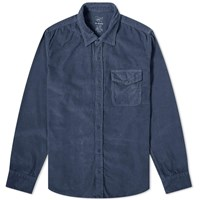 Save Khaki Corduroy Overshirt Blue