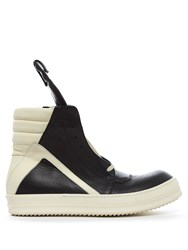 Rick Owens Geobasket High Top Leather Trainers Black Multi
