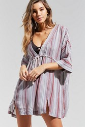 Out From Under Natalia Striped Kaftan Grey Multi