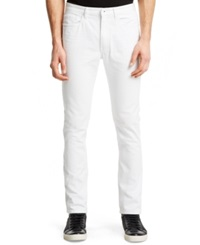 Kenneth Cole Reaction Slim Fit White Wash Jeans Dune