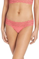 B.Tempt'd Women's By Wacoal B. Adorable Thong Sunkist Coral