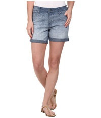 Liverpool Printed Linda Shorts Cuffed Ombre Women's Shorts Gold