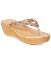 Kenneth Cole Reaction Fine Sun Wedge Sandals Rose Gold