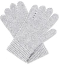 Burberry Ribbed Wool Cashmere Gloves Grey