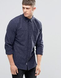 Bellfield Fleck Double Pocket Navy Shirt Navy