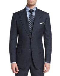 Tom Ford Windsor Base Windowpane Two Piece Suit Navy